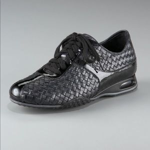 Cole Haan Nike Air Woven Leather Black Sneakers